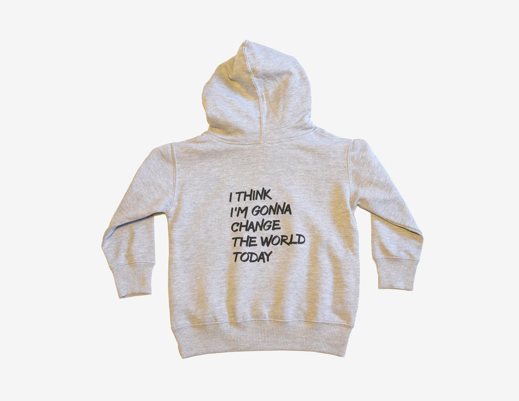 I THINK I'M GONNA CHANGE THE WORLD TODAY // Kangourou gris // Heather hoodie