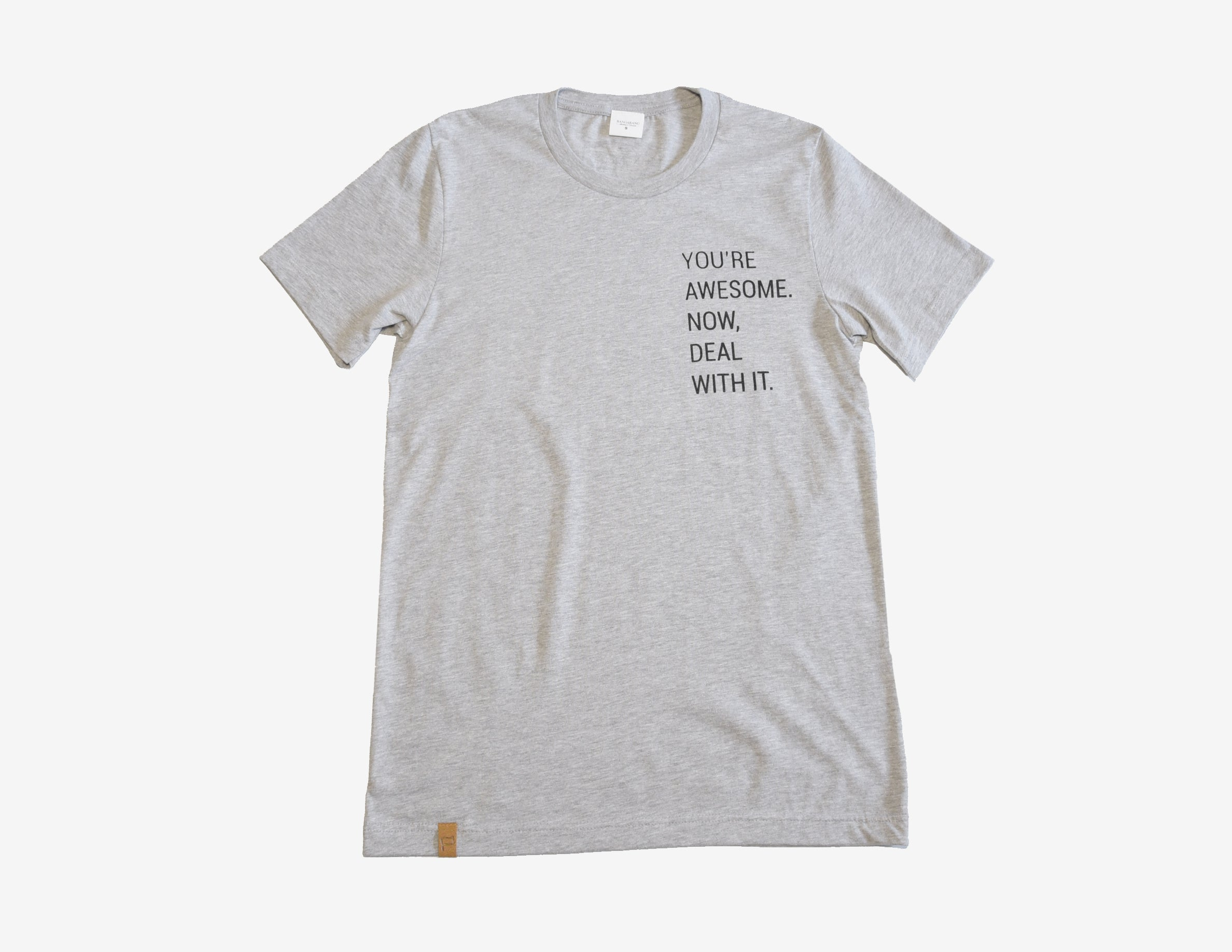 YOU'RE AWESOME. NOW DEAL WITH IT. //Gris // Heather Tee
