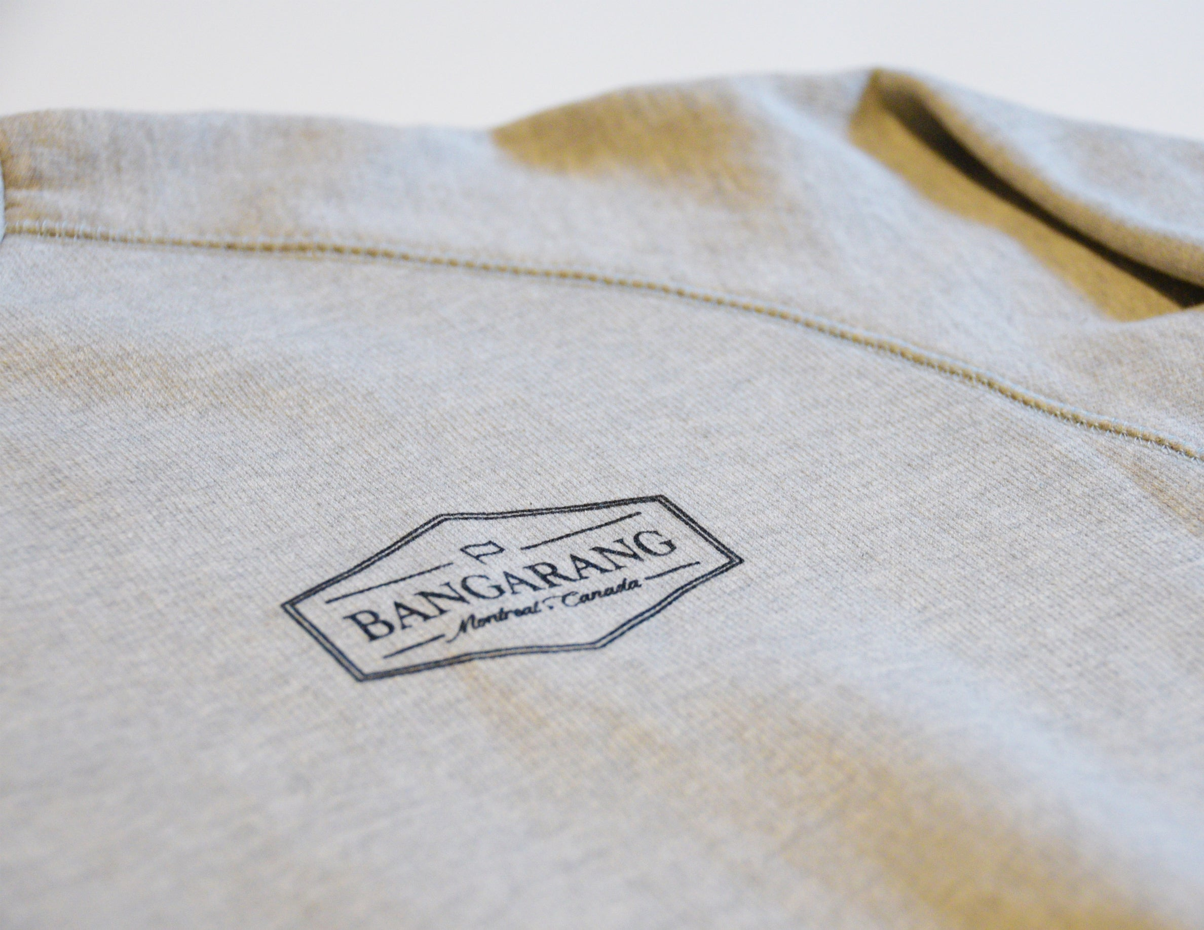BANGARANG LOGO // Chandail Gris // Heather Crewneck Sweater
