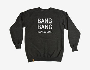 BANG BANG BANGARANG // Chandail Gris Charcoal // Charcoal Heather Crewneck Sweater