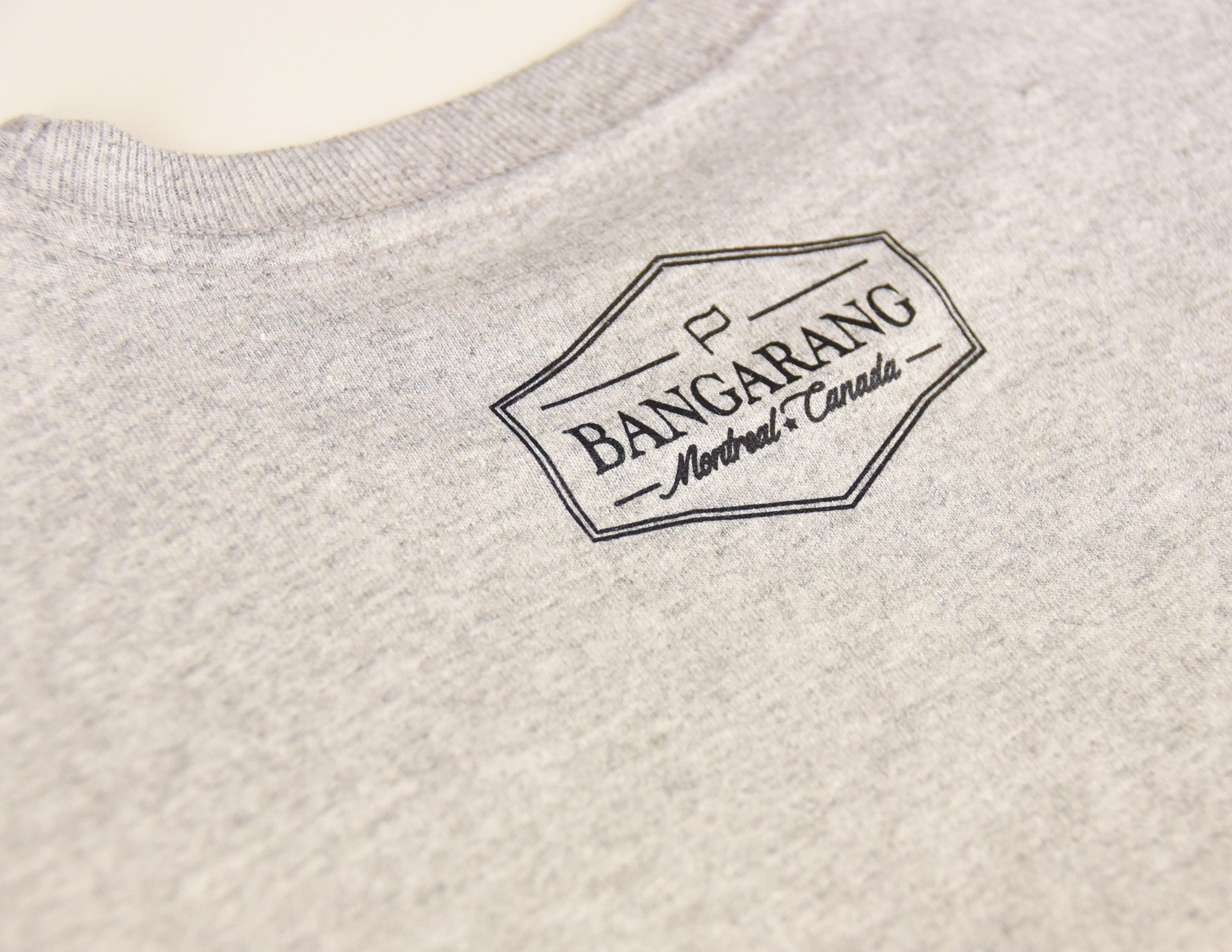 INSPIRÉ PAR LE POSITIF // T-Shirt Gris // Heather Grey Tee