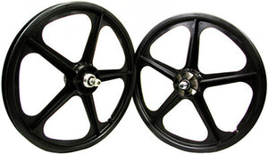 Black White Skyway Tuff 2 5 spoke Freewheel pair