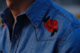 Eddie denim embroidered shirt