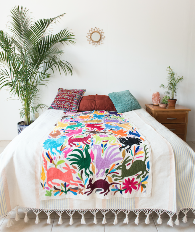 Otomi Multicolor large throw
