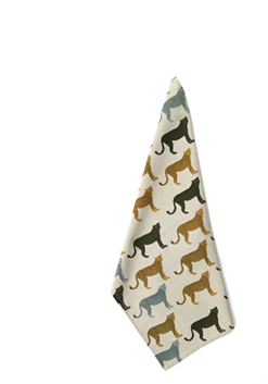 CHEETAHS GONE WILD LOOSE TEA TOWEL