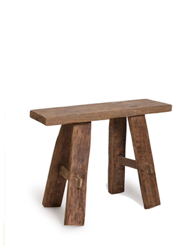 TEAK BENCH SMALL NAT 40X20X39CM