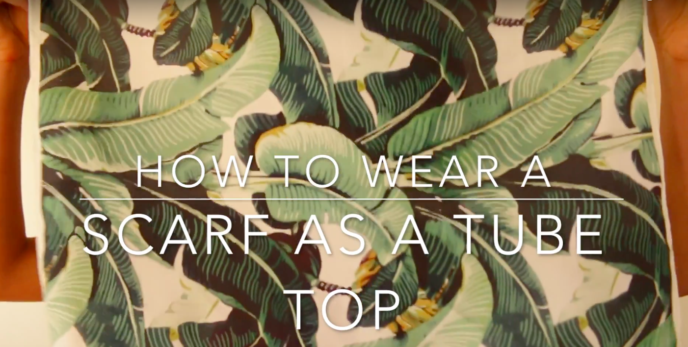 How To Wear A Square Silk Scarf As A Top In 20 Seconds