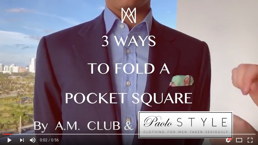 3 Easy Ways To Fold A Pocket Square With Bespoke Menswear Founder Paolo Martorano