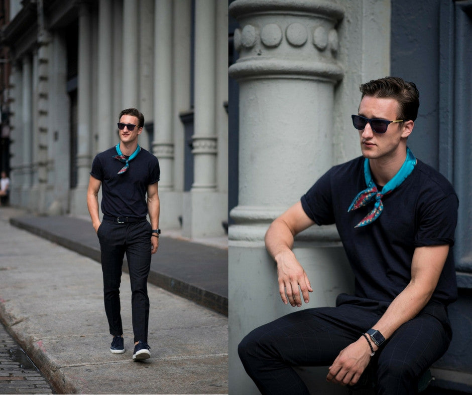 How To Style A Silk Neckerchief By Marcel Floruss from One Dapper Street