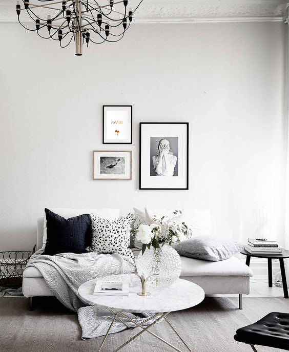 How To Decorate Empty Walls With Gold Foil Prints A M