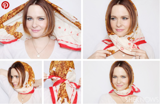 7 Chic Ways To Wear A Silk Scarf In Your Hair In Just 2 Minutes A M