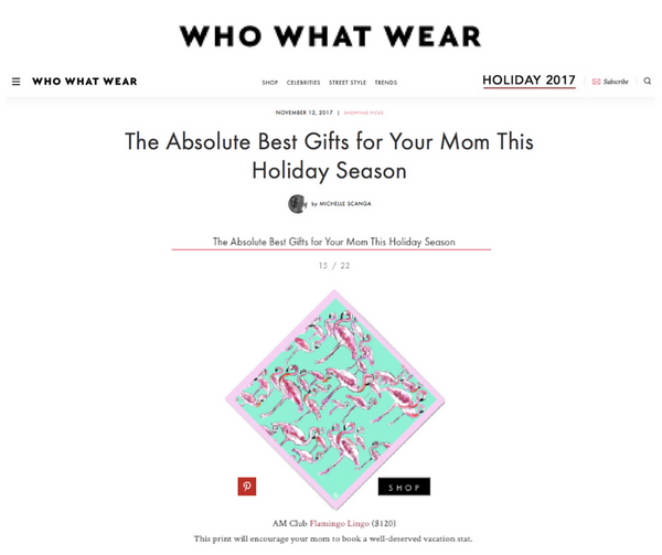 WhoWhatWear - Gift Guide Featuring A.M. Club