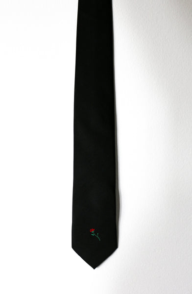 One Red Rose Silk Tie - A.M.