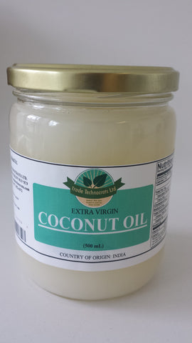 COCONUT OIL (EXTRA VIRGIN) 500ml - Trade Technocrats Ltd