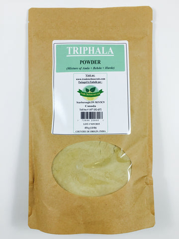 TRIPHALA (AMLA, BEHADA & HARDE) POWDER - Trade Technocrats Ltd