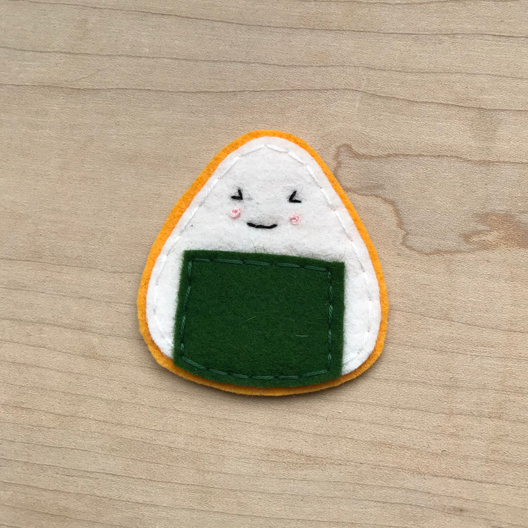 Sushi Onigiri Iron On Patch