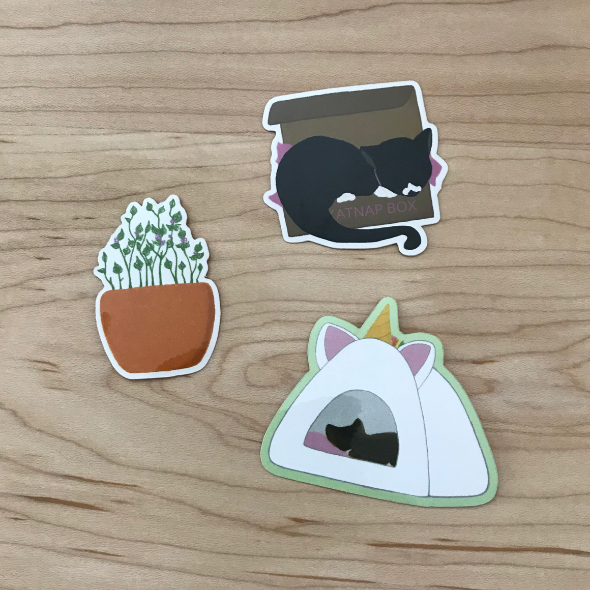 Sleepy Cat Sticker