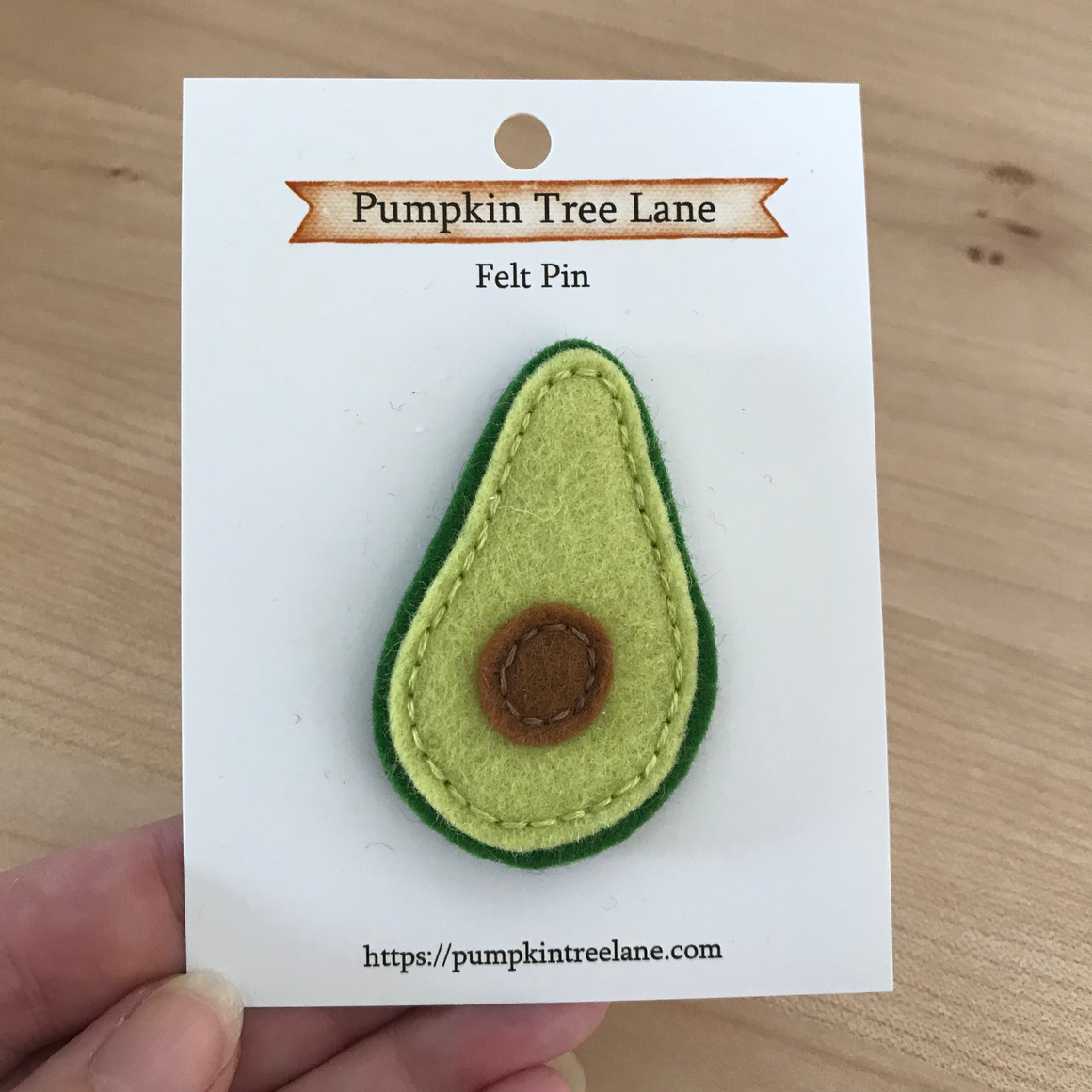 Avocado Felt Pin