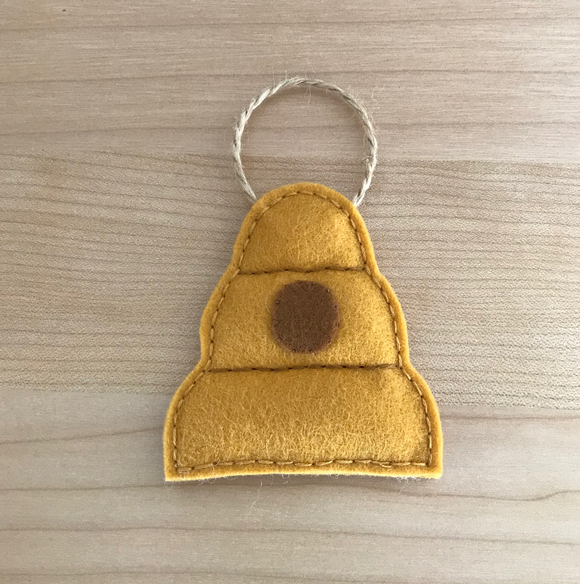 Beehive Wool Felt Ornament