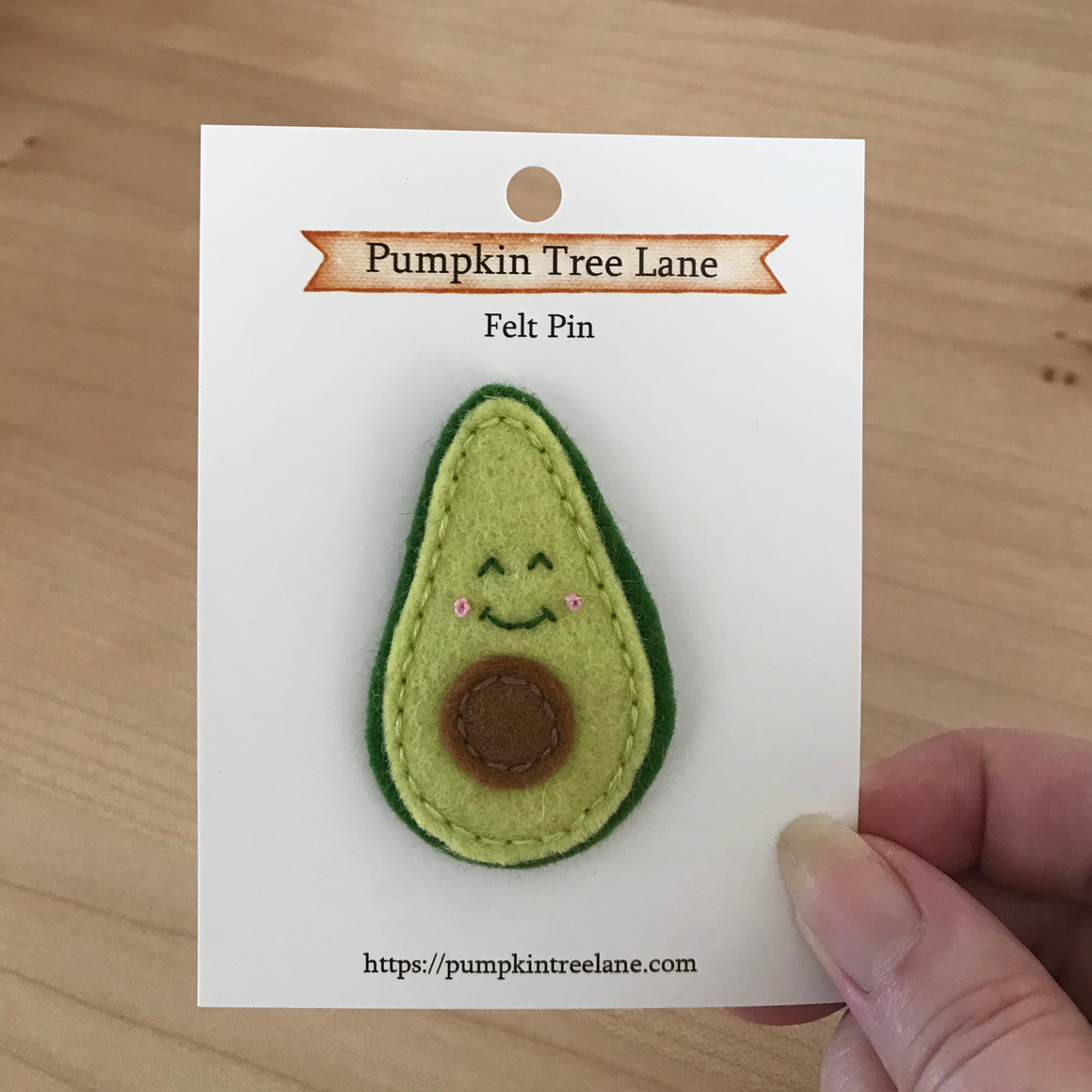 Kawaii Avocado Felt Pin