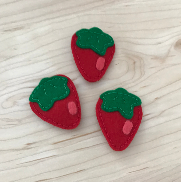 Mabel's Berry Wool Felt Pin