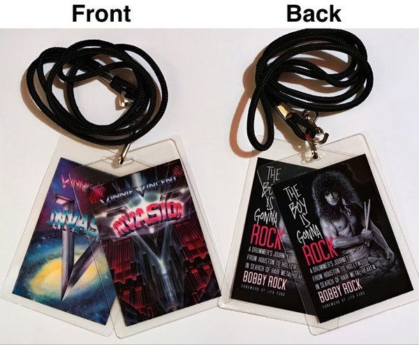Autographed Book and Tour Laminates