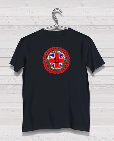 Airdrie Remembers - Black TShirt