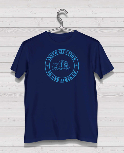 Rangers ICF Bulldog Navy Short Sleeve TShirt - Light Blue Print