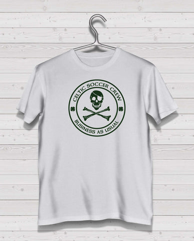 Celtic CSC White Short Sleeve TShirt -  Green Print