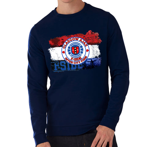 "Ajax FSide & Inter City Firm""  Casual Style Navy Sweatshirt"