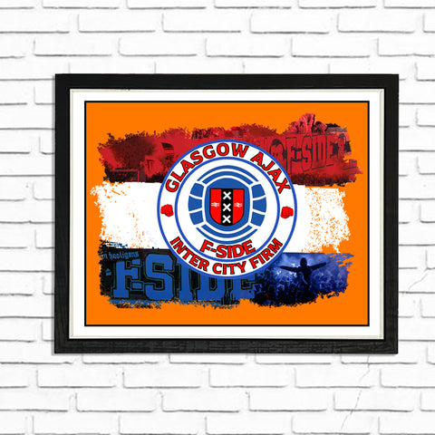 FSide & Inter City Firm  - (A4) Framed Poster