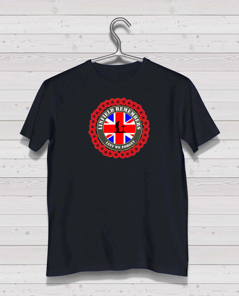 Linfield Remembers - Black TShirt
