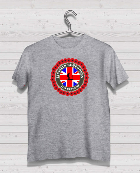 Linfield Remembers - Grey TShirt