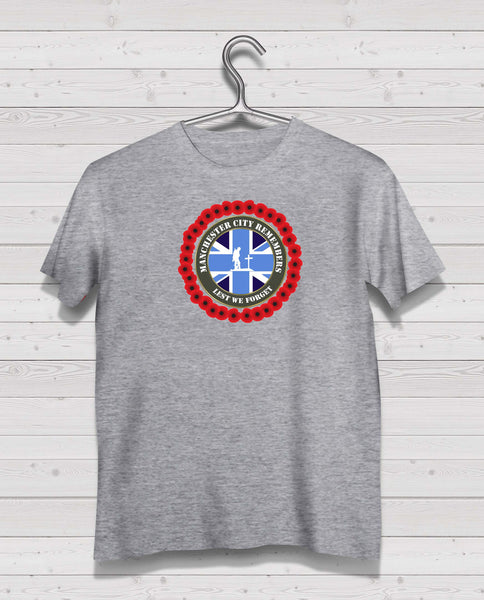 Manchester City Remembers - Grey TShirt