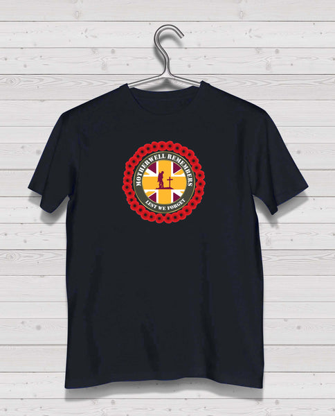 Motherwell Remembers - Black TShirt