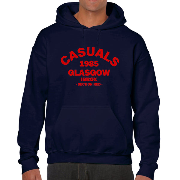 """Casuals - Section Red!""  Rangers Casual Style Navy Hoodie"