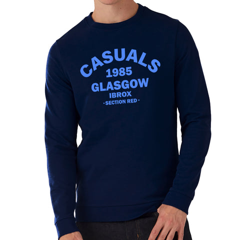 """Casuals - Section Red!""  Rangers Casual Style Navy Sweatshirt"