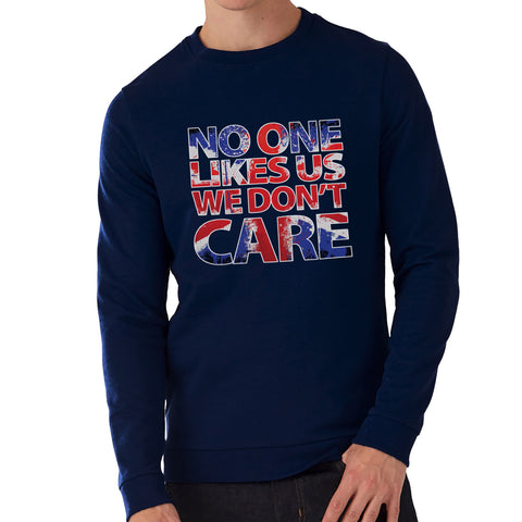 """No one like us!""   Navy Sweatshirt full colour print"