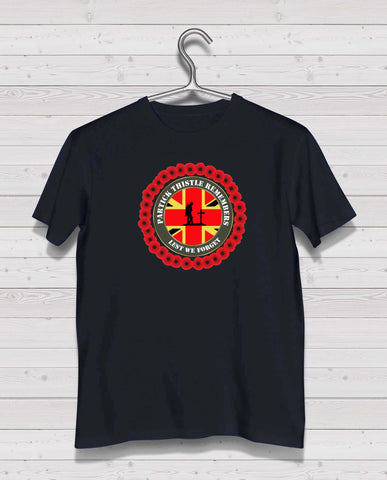 Partick Thistle Remembers - Black TShirt