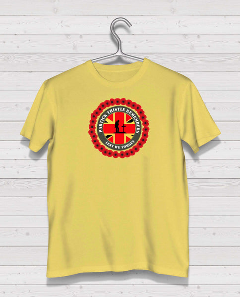 Partick Thistle Remembers - Yellow TShirt