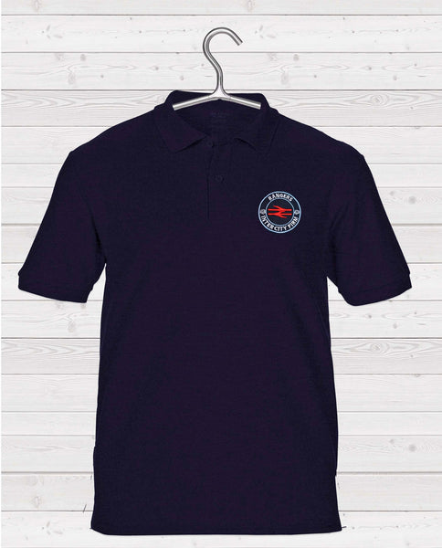 Rangers ICF Short Sleeve Polo Shirt - Navy with ICF Coloured Badge