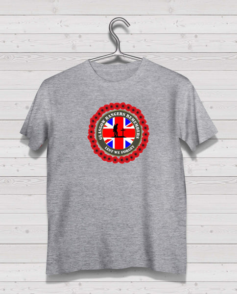 Rangers Remembers - Grey TShirt