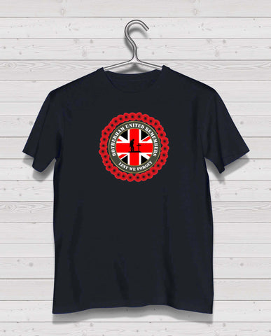 Rotherham Utd Remembers - Black TShirt