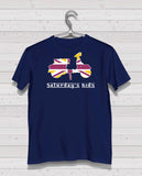 Scooter Style - Navy Tshirt, Short Sleeve (Gold/White/Claret)