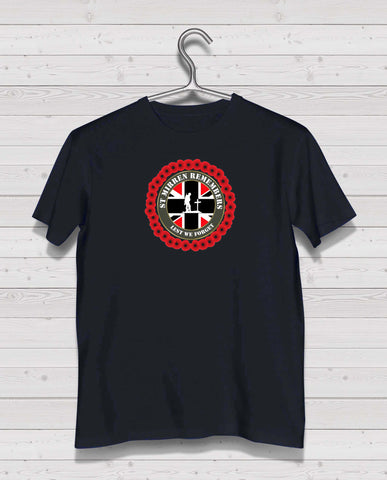 St Mirren Remembers - Black TShirt