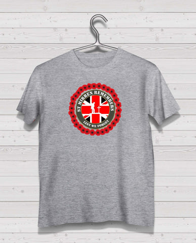St Mirren Remembers - Grey TShirt