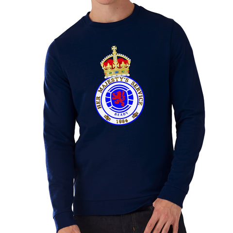 """HMS Crown""  Rangers Casual Style Navy Sweatshirt"