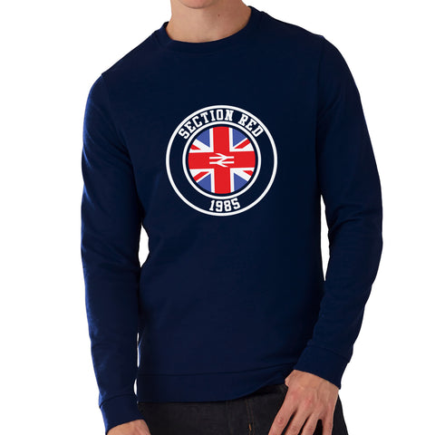 """Section Red""  Rangers Casual Style Navy Sweatshirt"