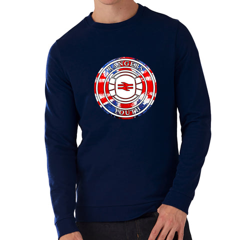 """Rangers Youth""  Rangers Casual Style Navy Sweatshirt"