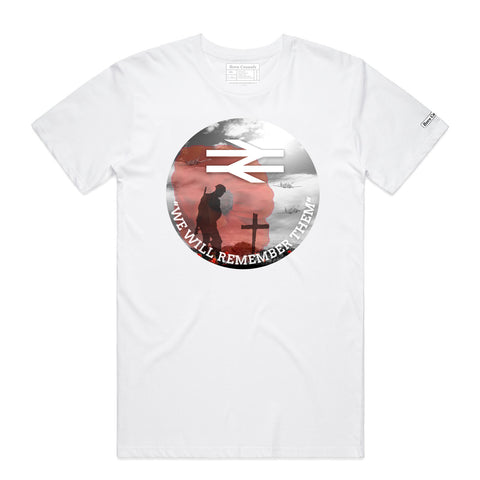 We will never forget - White sublimated T Shirt